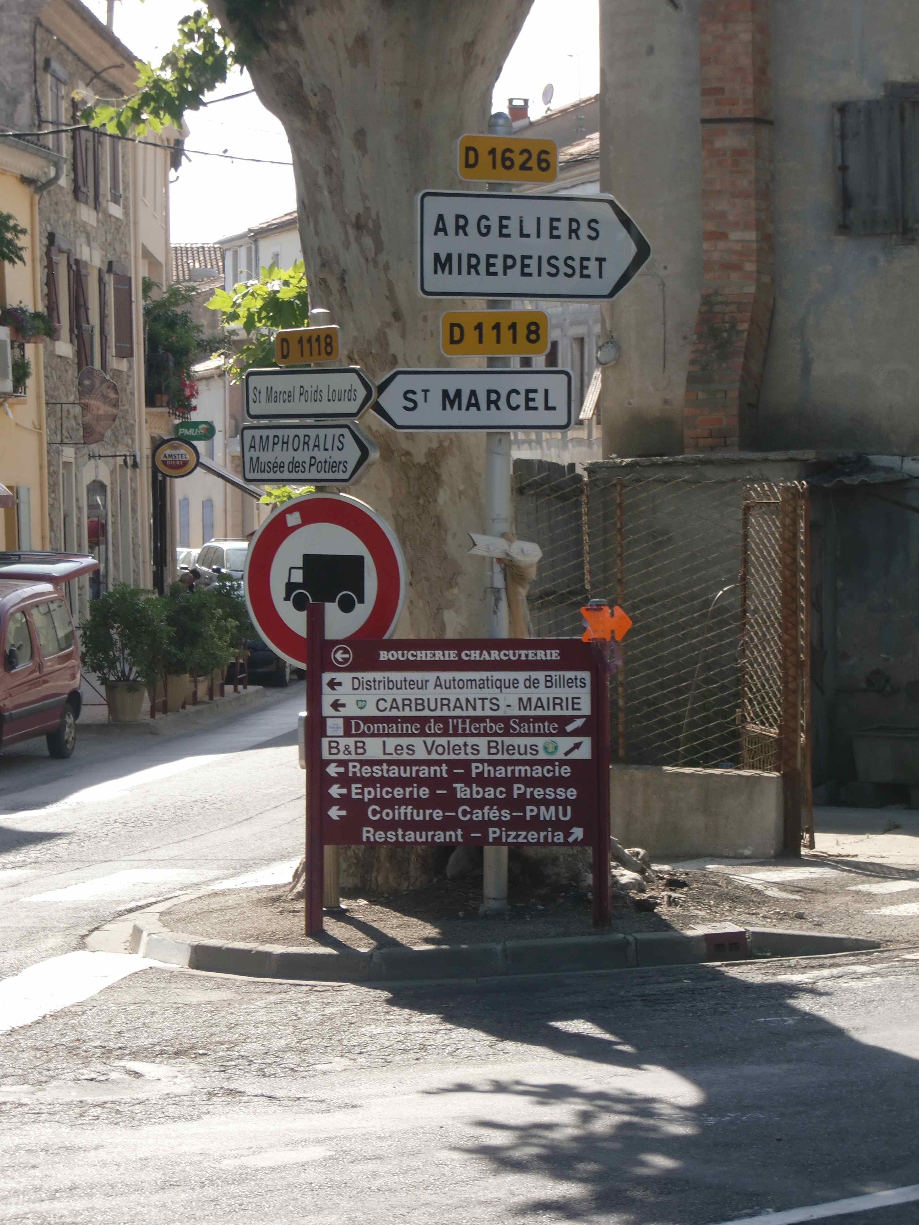 Signs at Salleles d'Aude
