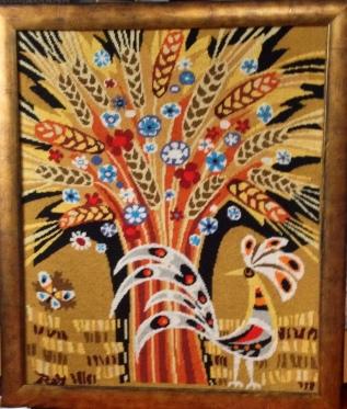 Folk art needlepoint from Port de Vanves flea market